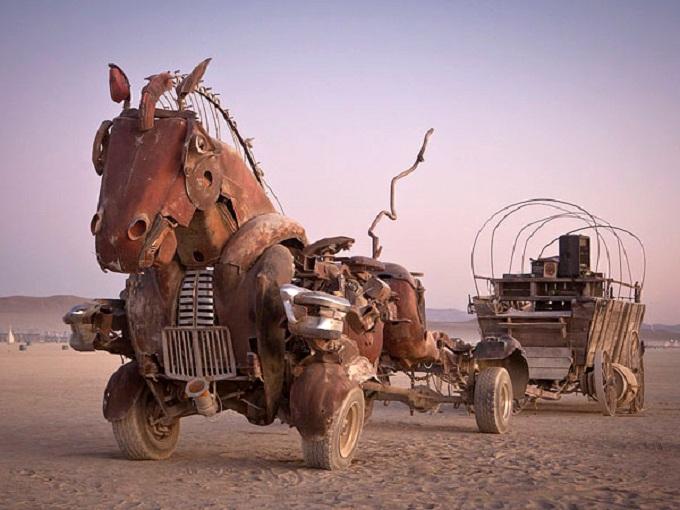 """Rustang Sally"" by Mutoid Waste Company, BurningMan 2014"